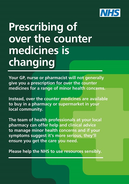 Prescribing of over the counter medicines is changing leaflet image